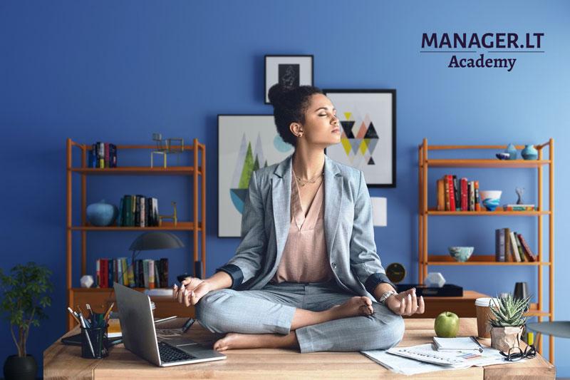 Atsipalaidavimo akimirkos darbe padeda įveikti stresą