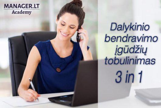 Dalykinio bendravimo įgūdžių tobulinimas - 3 in 1 - Manager.LT Akademija