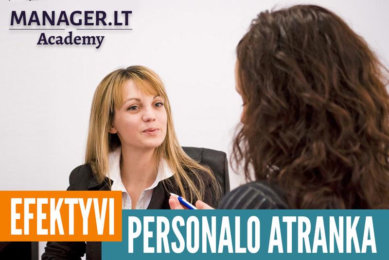 Efektyvi personalo atranka - mokymai kursai