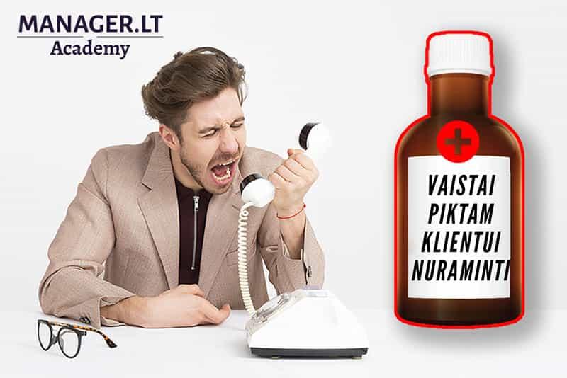 Geriausi vaistai piktam klientui nuraminti - Manager.LT Akademija