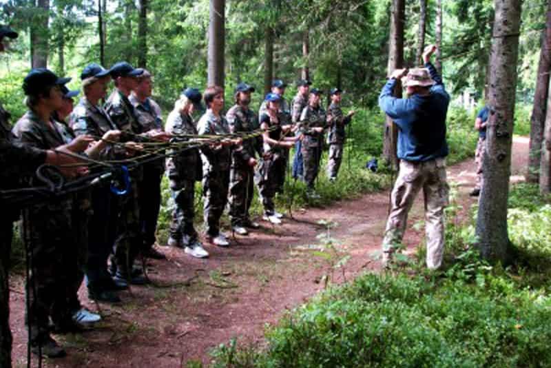 Išgyvenimo mokykla, instruktažas - komandos formavimo mokymai