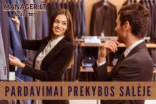 Klientų aptarnavimo mokymai pardavėjams konsultantams drabužiai trikotažas avalynė