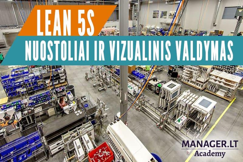 LEAN 5S - nuostoliai ir vizualinis valdymas - mokymai gamybos vadovams
