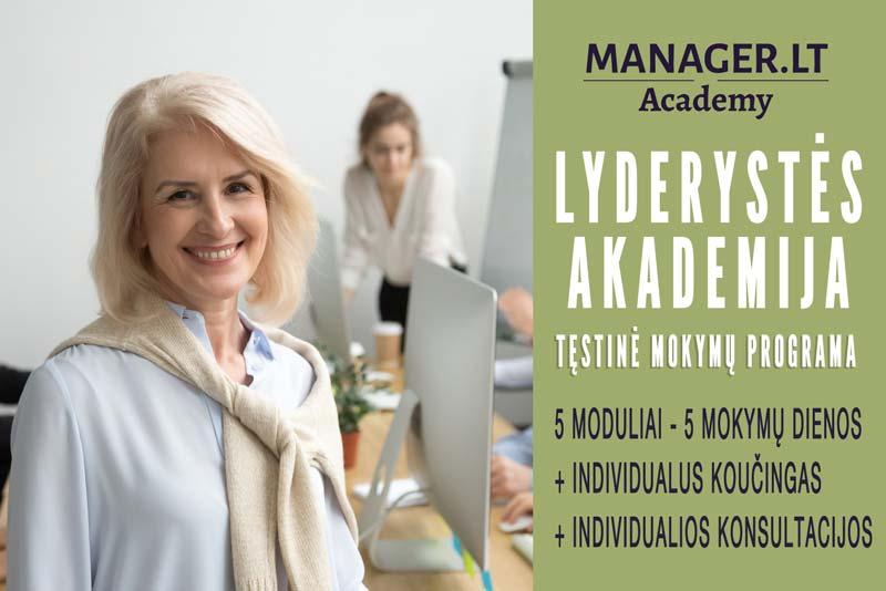 Manager.LT lyderystės akademija - lyderystės mokymai - testinė mokymų programa