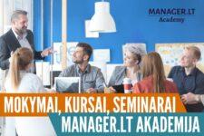Mokymai, kursai, seminarai - Manager.LT Akademija