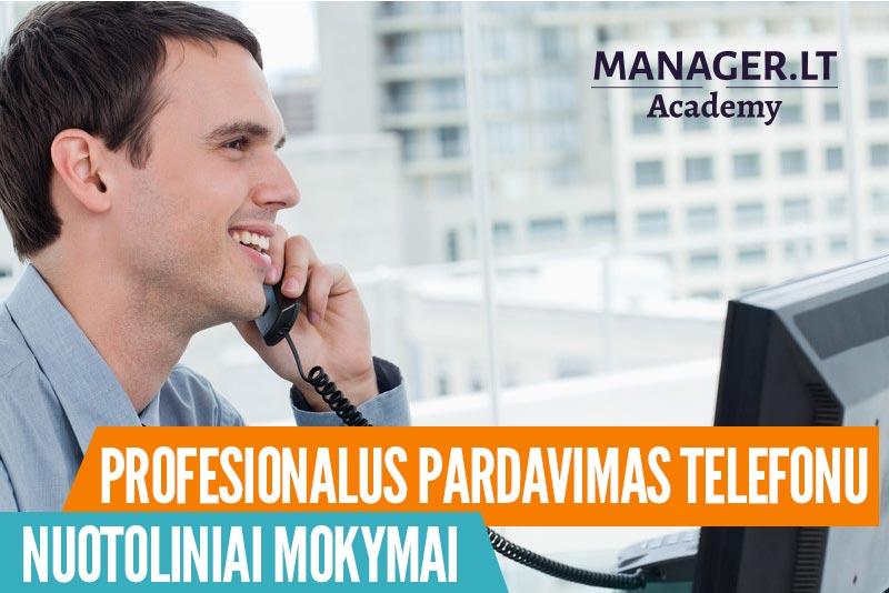 Pardavimo telefonu ir vaizdo skambučiu nuotoliniai mokymai