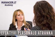 Efektyvi personalo atranka, Manager.LT Akademija