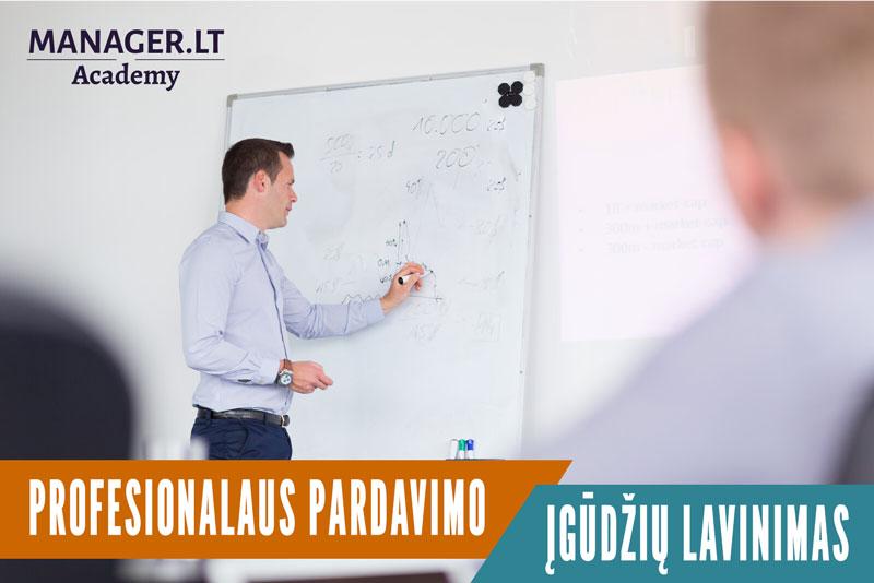 Profesionalaus pardavimo įgūdžių lavinimas - pardavimų mokymai turintiems patirties