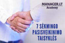 Septynios sėkmingo pasisveikinimo taisykles Manager LT Akademija
